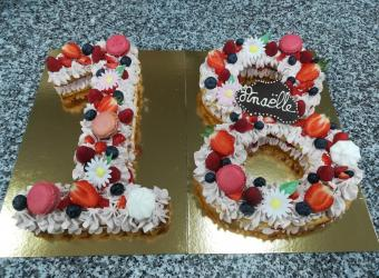 Number cake 18 aux fruits